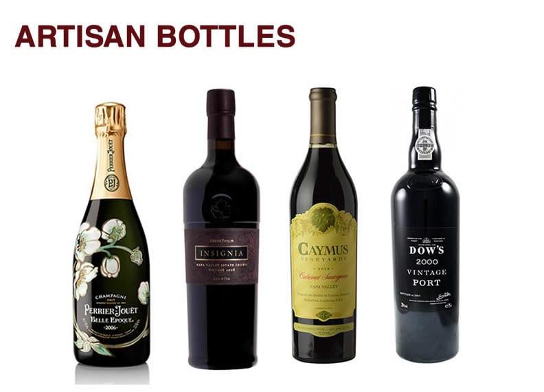 Four artisan bottles with logos in Hackensack, NJ