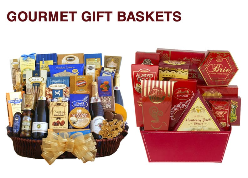 Two gourmet gift baskets in Hackensack, NJ