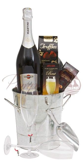 Classic Romance Sparkling Wine Gift Basket