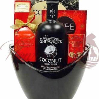 Coconut Dreams Rum Gift Basket