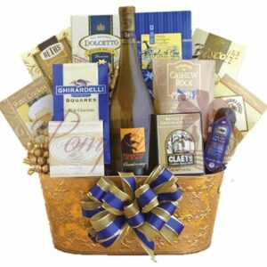 Golden Chardonnay Wine Gift Basket