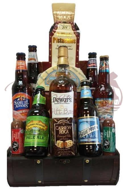 Man Cave Essentials Scotch & Beer Gift