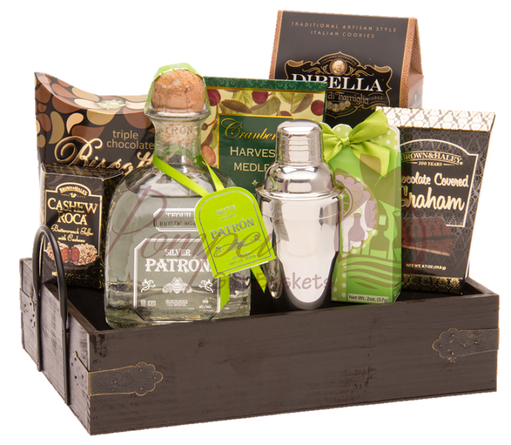 Margarita Party Tequila Gift Basket by Pompei Baskets