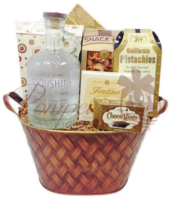 Oh My Moonshine Whiskey Gift Basket