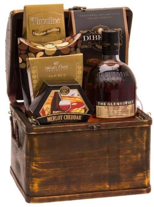 Perfect Cask Scotch Gift Basket by Pompei Baskets