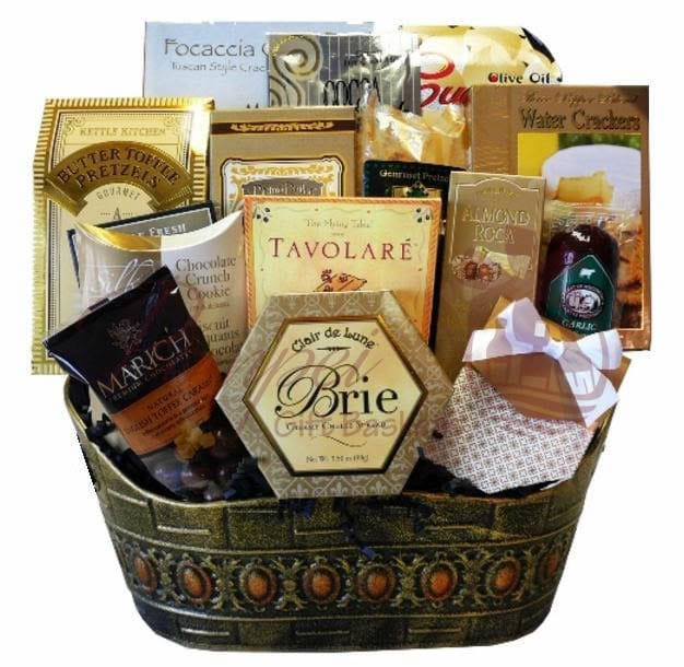 Snack Attack Gourmet Gift Basket By Pompei Baskets