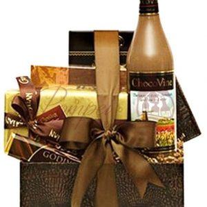 Comforting Cocoa Wine Gift Basket