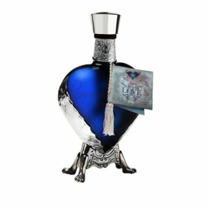 Grand Love Blue Blanco Tequila, Grand Love Opalo Blanco, Grand Love Blue Tequila, Grand Love Silver Tequila, Blue Heart Liquor Bottle, Engraved Heart Tequila,