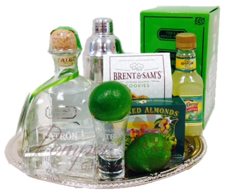 ShaShaShake it Up Margarita Gift Basket, Patron Gift Set, Patron Gift Basket, Margarita