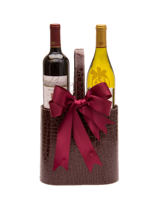 Perfect combo wine gift set by pompei baskets