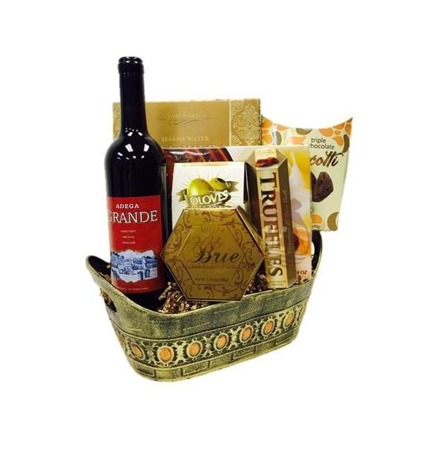 Argentina wine gift basket by pompei baskets