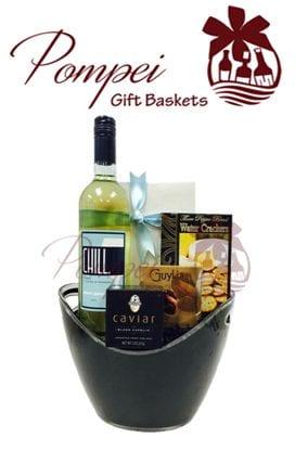 Chill Pinot Grigio Wine Gift Basket
