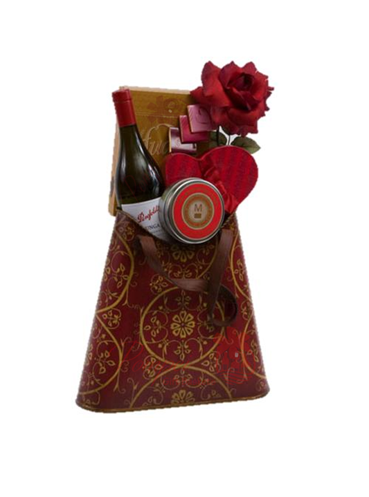 For The Love Of Love Wine Gift Basket By Pompei Baskets