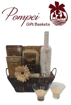 Vanilla Latte Wine Gift Basket, Free Delivery Gift Basket, Free Delivery Wine Gift basket, Free Delivery Gift Basket, National Chocolate Day, mü wine, mü cocktails