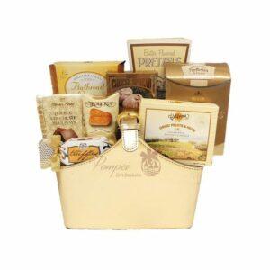 Gift of Gold Gourmet Gift Basket, High end Gift Basket, Cheap Gift basket, Free Delivery Gift Basket, Gift Baskets NJ