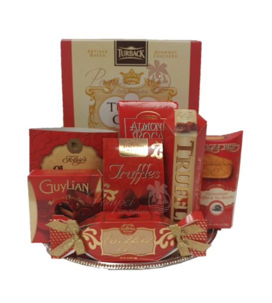 You red my mind gourmet gift basket by pompei baskets you red my mind gourmet gift basket gift baskets nj nj food baskets negle Gallery