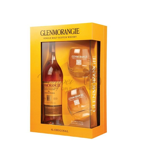 Glenmorangie Single Malt Scotch Gift Set, Glenmorangie with glasses, Glenmorangie Git Set, Glenmorangie