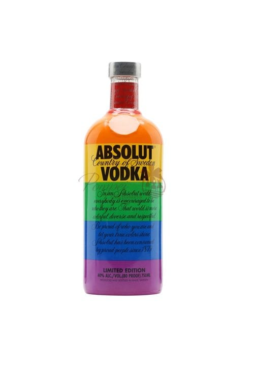 Uitgelezene Absolut Colors Limited Edition Vodka from Pompei Baskets PF-18