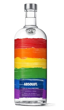 Absolut Colors, Absolut LGBT, LGBT Vodka, LGBT Liquor, Rainbow Absolut, Rainbow