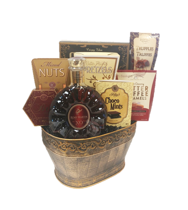 French Excellence Cognac Gift Basket By Pompei Baskets