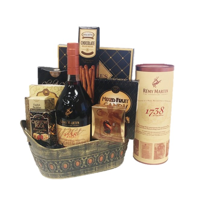 Royal Accord Cognac Gift Basket by Pompei Baskets
