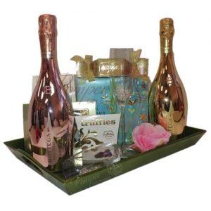 Spring Garden Bubbly Gift Basket, Bottega Rose Gold, Bottega Venetian Gold, Bottega Prosecco, Bottega Metallic Collection, Bottega Gift Basket, Bottega Prosecco Gifts, Bottega Prosecco Basket