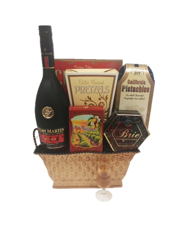 Very Superior Cognac Gift Basket, Remy Gift Basket, Remy Gift Basket Delivered, Free