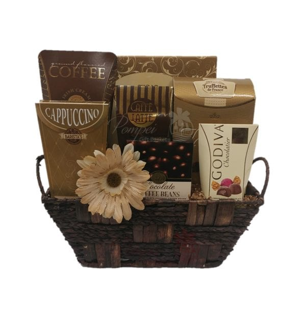 Cafe Break Gourmet Gift Basket By Pompei Baskets