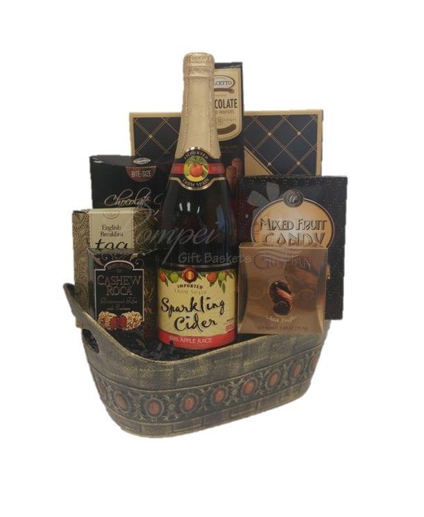 Sparkling Dreams Non-Alcoholic Gift Basket, Sparkling Cider Gift Basket, Non Alcoholic Gift Basket, No Alcohol Gift Basket, Cider Gift Basket