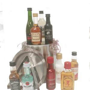 Premium Mini Bar Liquor Gift Basket, 21st Birthday Gift, 50ml gift basket, mini bar gift basket, nips gift basket, mini liquor bottle basket, airplane bottle gift basket