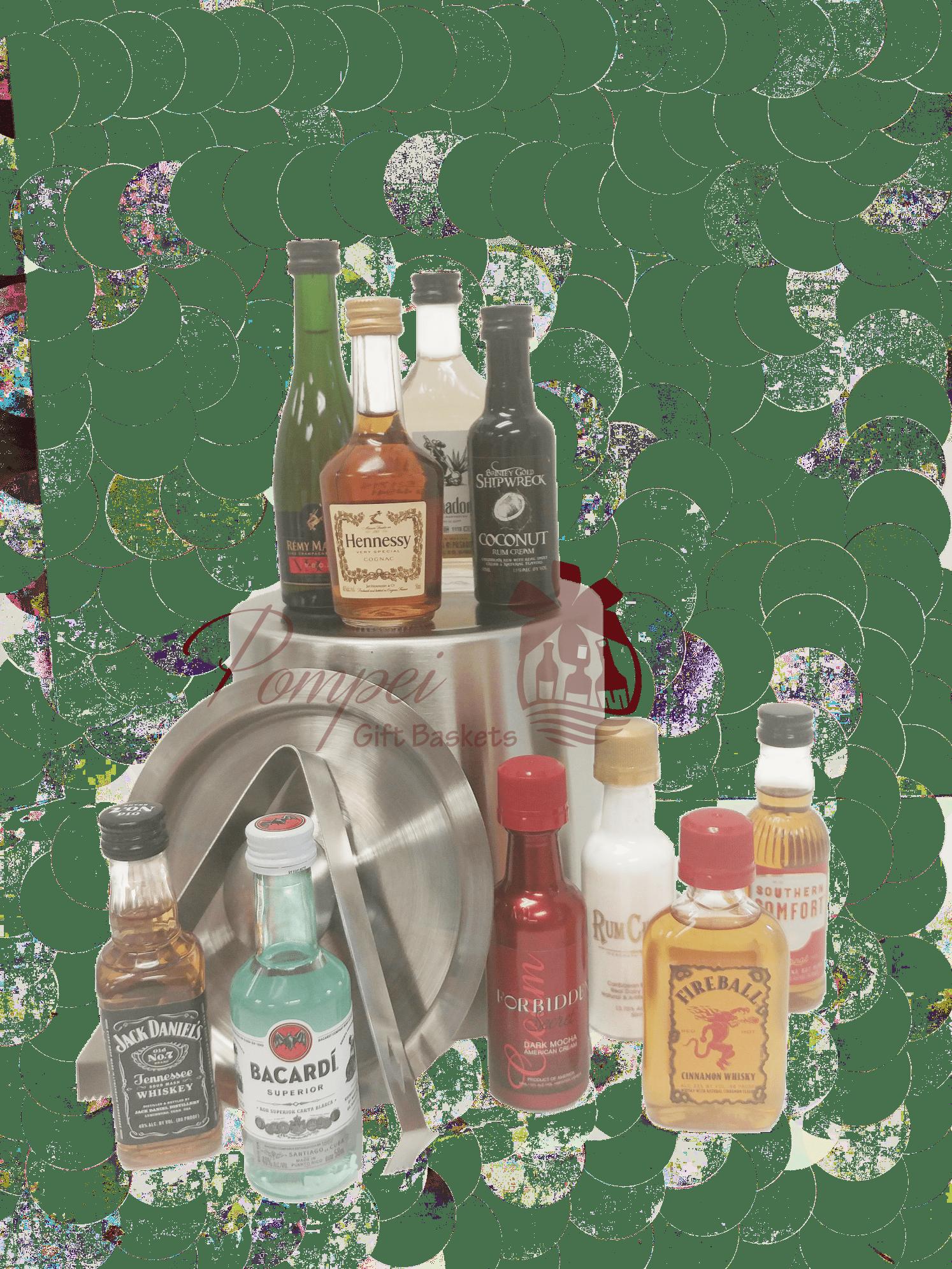 Premium Mini Bar Liquor Gift Basket 21st Birthday 50ml
