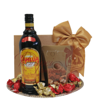Klassic Kahlua Liqueur Gift Basket, Kahlua Gift Basket, Coffee Gift Basket, Chocolate Gift Basket, Liqueur Gift Basket, Gift Baskets NJ, Aperitif Gift Basket, NJ Gift Basket