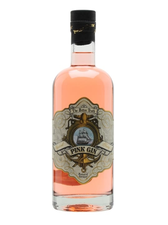 Bitter Truth Pink Gin, Pink Gin, Girly Gin, Girly Liquors, Gin Gift Baskets, Pink Gift Basket, Unique Gin, Collectable Gin, Where to buy Bitter Truth Pink Gin online, Engraved Bitter Truth Pink Gin