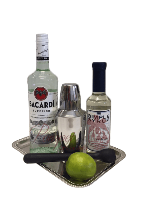 Simply Superior Rum Gift Basket, Bacardi Gift Basket, Bacardi Gift Set, Send Bacardi