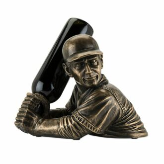 Baseball Player Wine Holder, baseball lover gifts, baseball wine gifts, gifts for baseball players, yankees wine gifts, mets wine gifts, unique baseball gifts