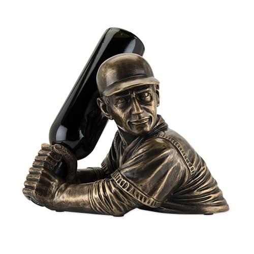 Baseball Player Wine Holder, baseball lover gifts, baseball wine gifts, gifts for baseball players, yankees wine gifts, mets wine gifts, unique baseball gifts