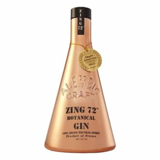 Zing 72 Botanical Gin, Copper Gin, beaker bottle gin, unique gin bottles, collectors bottle gin, alembic craft zing 72 botanical gin