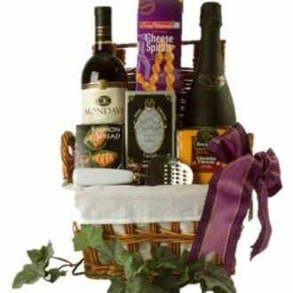 Afternoon Delight Wine Gift Basket, Sparkling Wine Gift Basket, Wine and Champagne Gift Basket, Wine and Prosecco Gift Basket, Free delivery wine gift basket, NJ wine gift basket