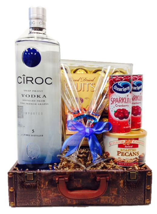 Big Daddy Ciroc Vodka Gift Basket, ciroc gift basket, engraved ciroc, custom ciroc