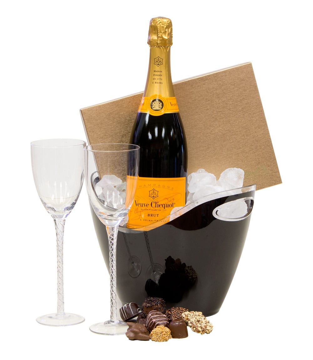 Simple Celebration Champagne Gift Basket By Pompei Baskets