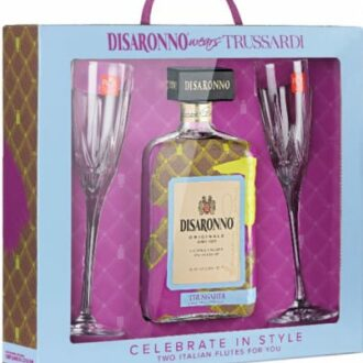 Disaronno Wears Trussardi, Disaronno 2018 Gift Set, Disaronno 2019 Gift Set, Disaronno Holiday Gift Set, Disaronno Icon Wrap, Disaronno Fashion Bottle