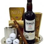 Generous Golfer's Scotch Gift Basket