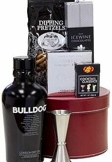 The Underbite Gin Gift Basket, bulldog gin gifts, gifts for dog lovers, gin gift basket, bulldog gift basket,