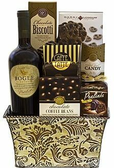 Bold Bogle Wine Gift Basket, Bogle Gift Basket, White Wine Gift Basket, Red Wine Gift Basket, Thank you gift basket, Bogle Phantom Gift Basket