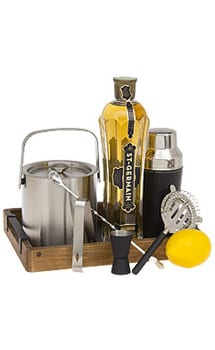 Young Elder Cocktail Gift Basket, St Germain Gift Basket, Elderflower gifts, Elderflower Cocktails