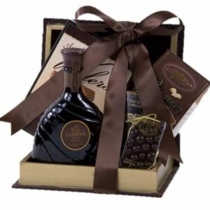 Decadent Chocolate Liqueur Gift Basket, godiva liqueur gift basket, godiva liquor gift basket, chocolate liquor gift basket, chocolate gift basket for adults