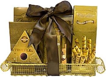Golden Gestures Gift Basket, sympathy gift basket, thank you gift basket, kosher gift basket, gluten free gift basket, organic gift basket