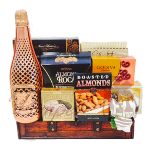 Copper Celebration Champagne Gift Basket, NJ Gift Baskets, Gift Baskets NJ, Champagne Gifts NJ, Same Day NJ Gift Basket Delivery, NJ Champagne Gifts, Beau Joie Gift Basket