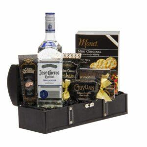 Especial Jose Cuervo Tequila Gift Basket, Tequila Gift basket, Jose Cuervo Gift basket, engraved jose cuervo, engraved tequila