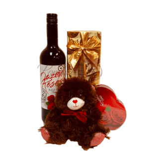 Mi Amor Red Wine Gift Basket, Dozen Roses Wine, Send Dozen Roses Wine, Order Dozen Roses Wine online, Valentines Day Gifts for Her, Unique Valentines Gifts